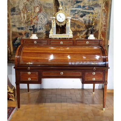 Large Bureau à Cylindre Epoque Louis XVI
