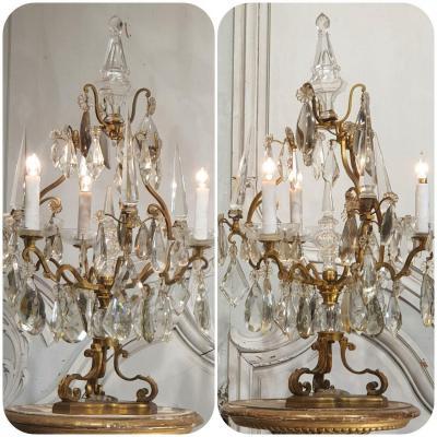 Paire De Girandoles De Style Louis XV