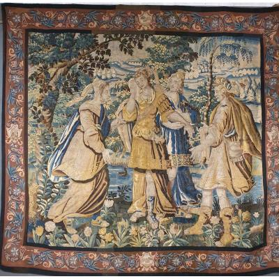 Tapisserie Des Flandres Epoque XVIIème Siècle