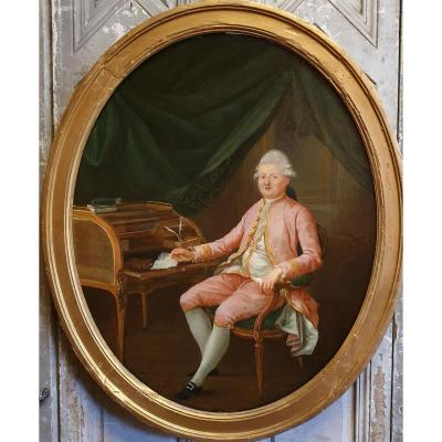 Portrait d'Un Aristocrate Epoque Louis XVI