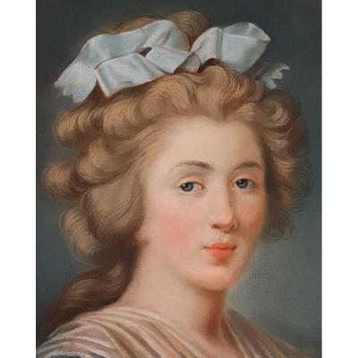 Pastel Of A Young Elegant Louis XVI Period