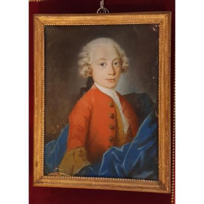 Pastel d'Enfant Epoque Louis XV