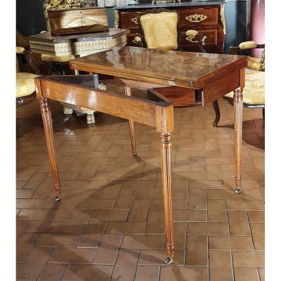 Table à Jeux à Système Epoque Louis XVI