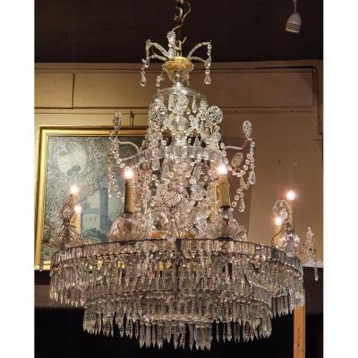 Chandelier At Eight Arms Of Lights XIXth Century