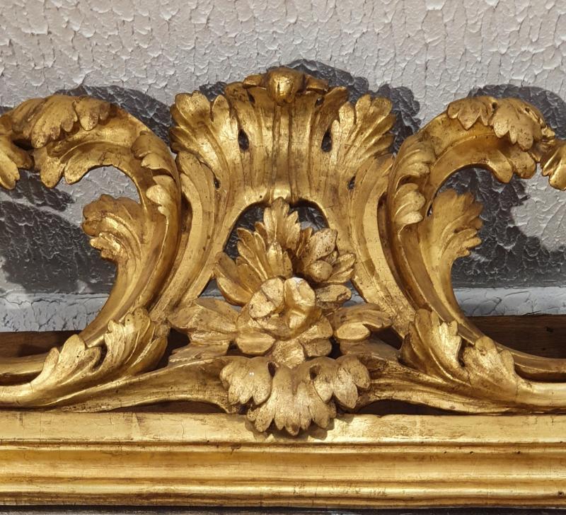 Miroir En Bois Doré Epoque XVIIIème Siècle-photo-3