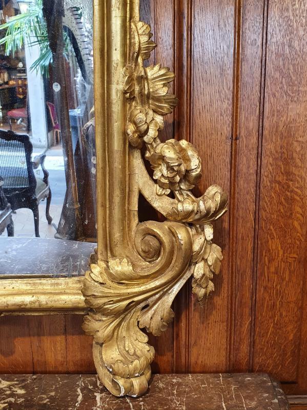 Miroir En Bois Doré Epoque XVIIIème Siècle-photo-4