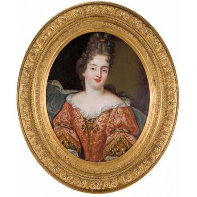 Portrait De Marie Anne De Bourbon Epoque Louis XIV