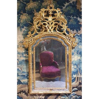 Miroir à Parecloses Epoque Régence