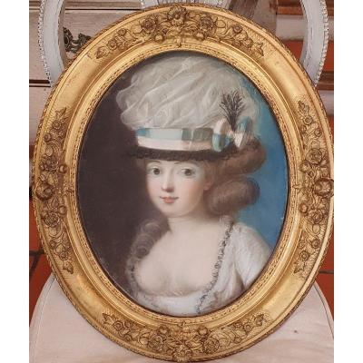 Portrait d'une Elégante Epoque Louis XVI