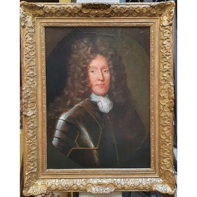 Portrait d'Homme En Armure Du XVIIème Siècle