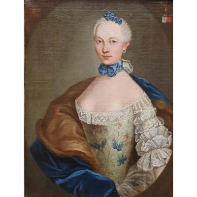 Portrait De  Marie Josephine Barbe Claire De La Mock Epoque Louis XVIs