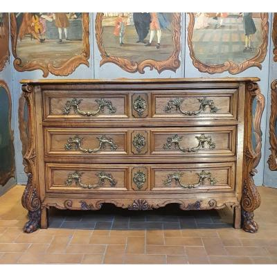 "Rare Commode dite ""Mazarine"" Epoque Louis XV"