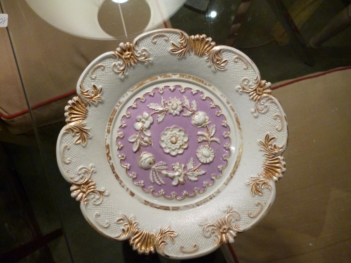 assiette d corative en porcelaine de meissen porcelaines anciennes. Black Bedroom Furniture Sets. Home Design Ideas