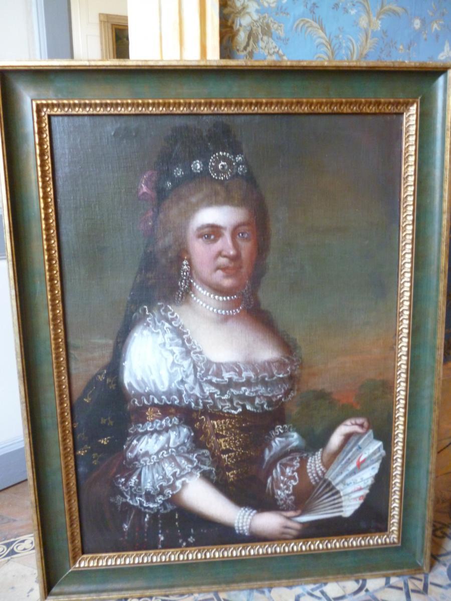 Portrait d'Aristocrate d' époque Régence 1715 1723