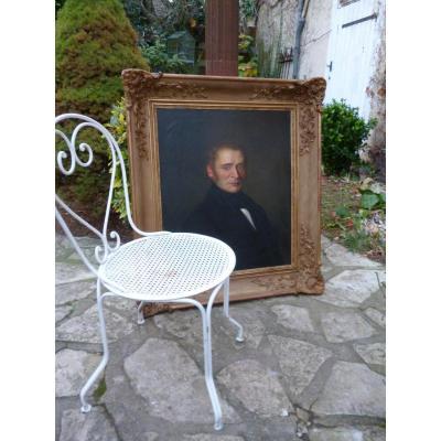Grand Portrait d'époque Louis Philippe