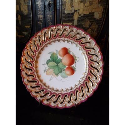 Assiette Porcelaine De Worcester XIX E