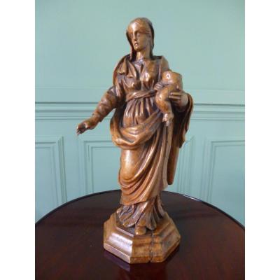 Vierge à l'Enfant époque XVIII E Siècle