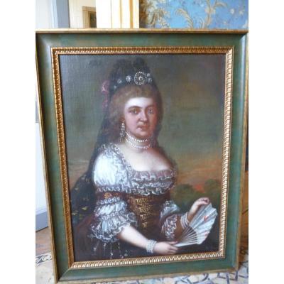 Portrait Of Regency Aristocrat 1715 1723