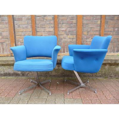 Pair Of Armchairs Design Year 1970