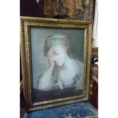 Pastel  époque  Louis  XVI