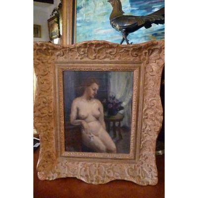H . S ; T ;  Année 30 Femme Nue Dans Un Intérieur