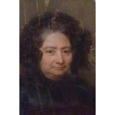 Pastel  Femme De Caractère époque Début XIX E