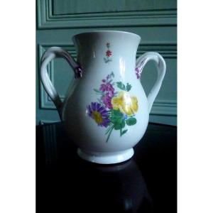 Grand  Vase  Porcelaine De Vienne époque XVIII E