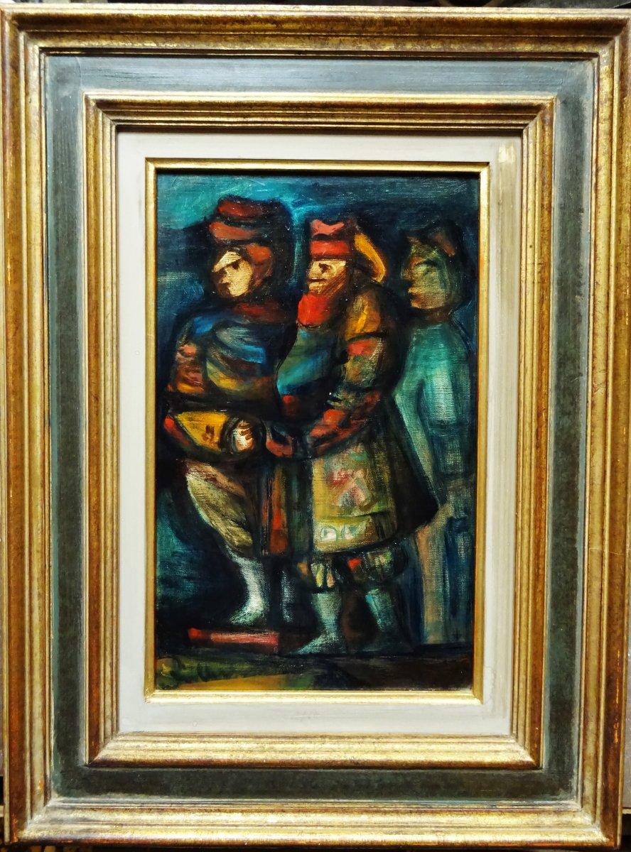 "Eugène fidler (1910-1990) ""3 personnages"" grand céramiste peintre russe, vallauris Picasso raty"