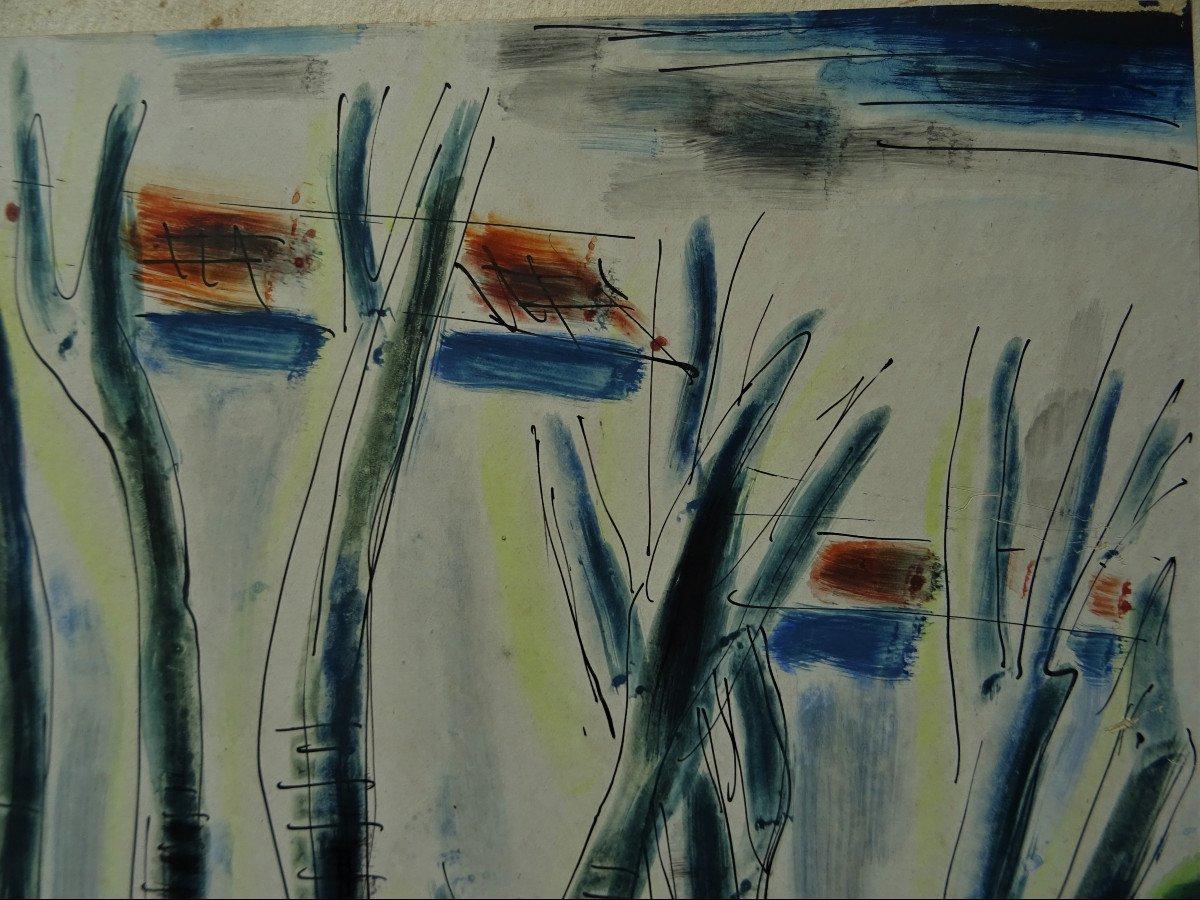 "Gio Colucci (1892-1974) "" Paysages Fauves Expressionnistes"" Grand peintre céramiste Italien, Severini, Galerie De Berri, Italie, Florence...-photo-1"