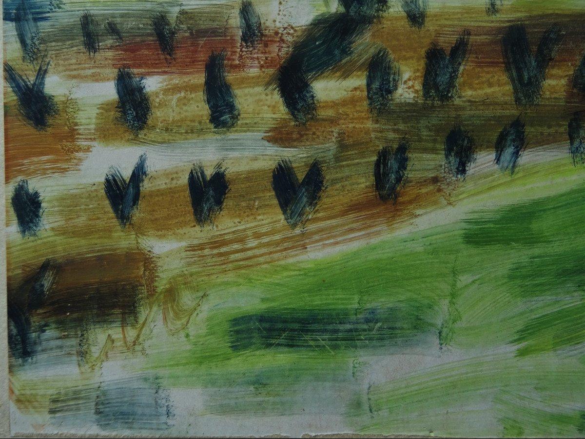 "Gio Colucci (1892-1974) "" Paysages Fauves Expressionnistes"" Grand peintre céramiste Italien, Severini, Galerie De Berri, Italie, Florence...-photo-5"