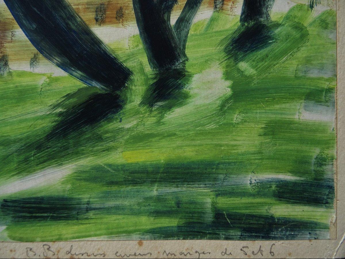 "Gio Colucci (1892-1974) "" Paysages Fauves Expressionnistes"" Grand peintre céramiste Italien, Severini, Galerie De Berri, Italie, Florence...-photo-6"