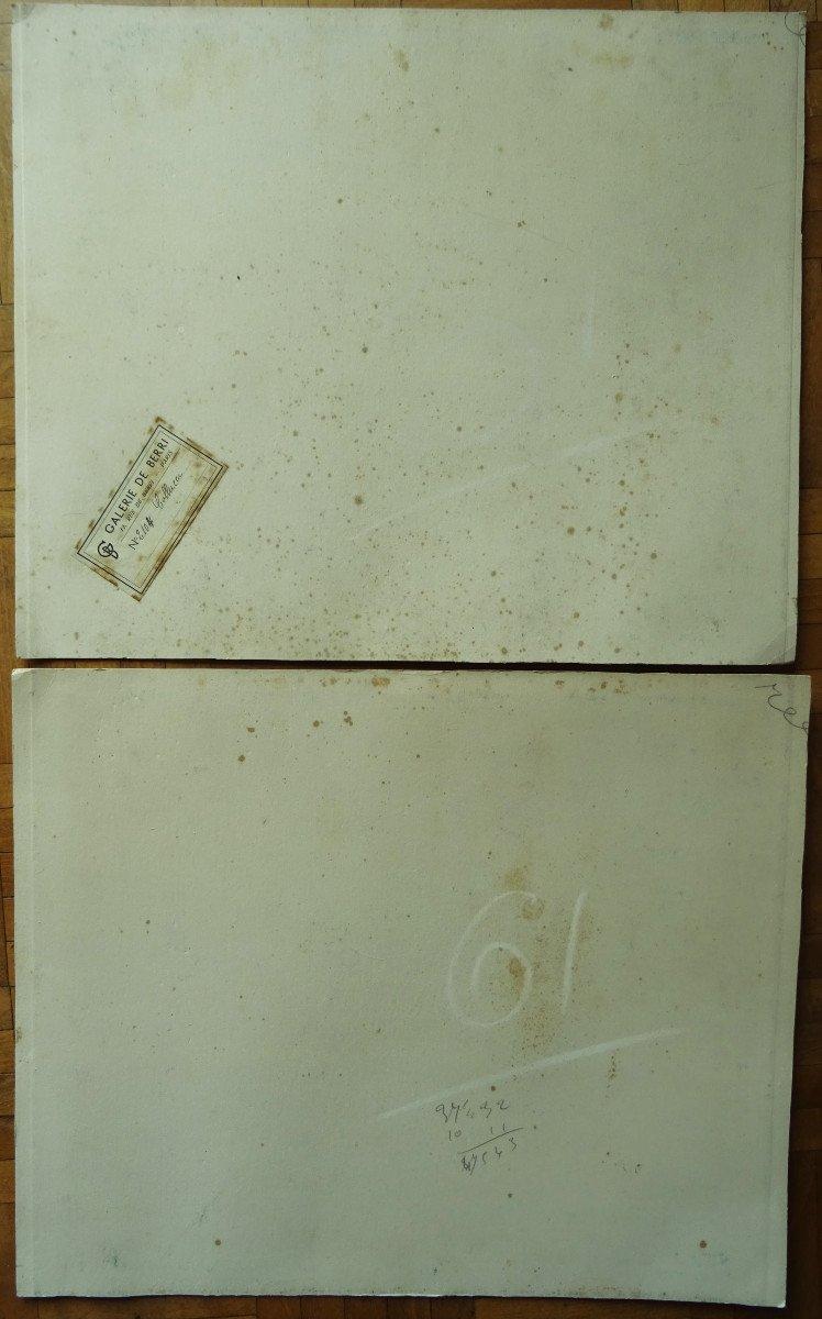 "Gio Colucci (1892-1974) "" Paysages Fauves Expressionnistes"" Grand peintre céramiste Italien, Severini, Galerie De Berri, Italie, Florence...-photo-8"