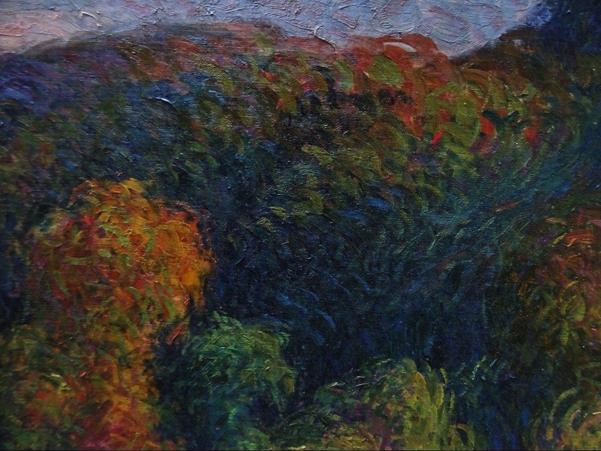 """Michel Fréchon (1892-1974) """" L'automne circa 1913/1916 """" Ecole de Rouen, Pointilliste, Lebourg, Delattre, Pinchon....-photo-4"""