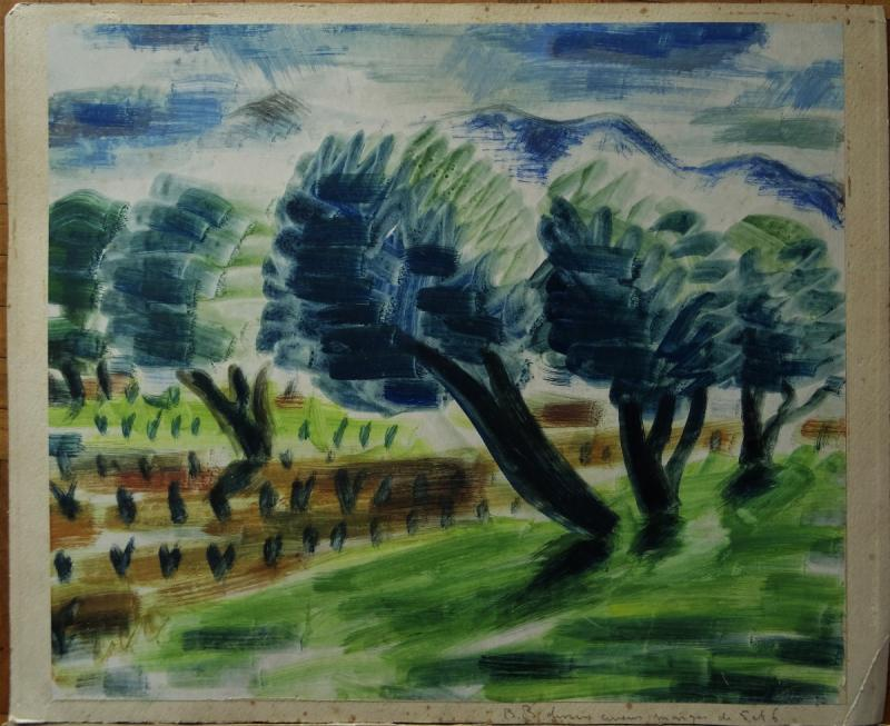 "Gio Colucci (1892-1974) "" Paysages Fauves Expressionnistes"" Grand peintre céramiste Italien, Severini, Galerie De Berri, Italie, Florence...-photo-3"