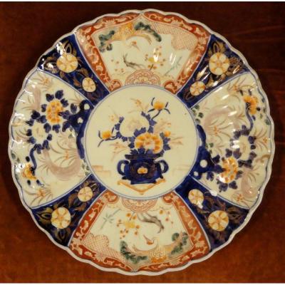 Plat en porcelaine Imari XIXeme