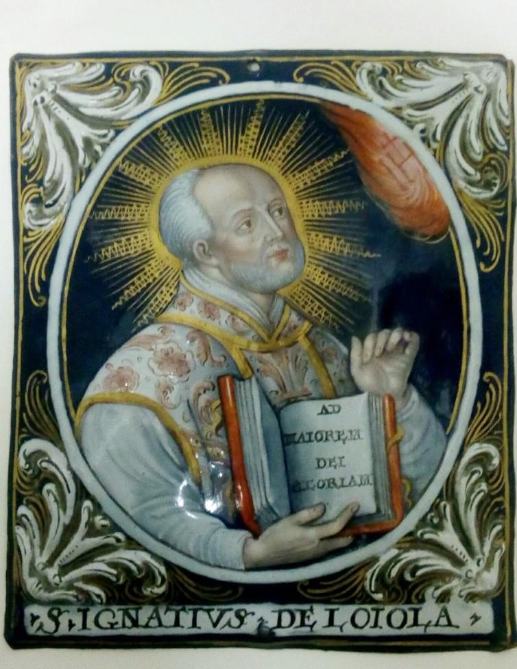 Ignace de Loyola et François-Xavier, émail peint, Limoges -photo-3
