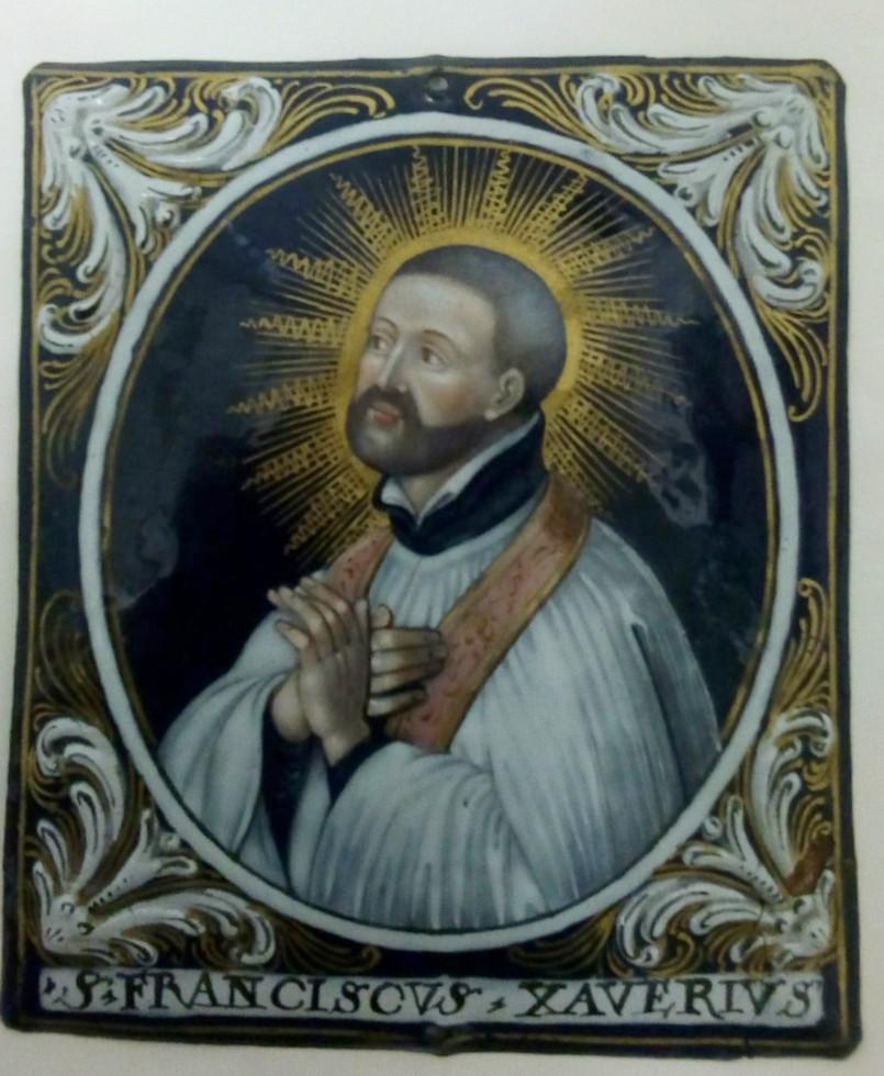 Ignace de Loyola et François-Xavier, émail peint, Limoges -photo-4