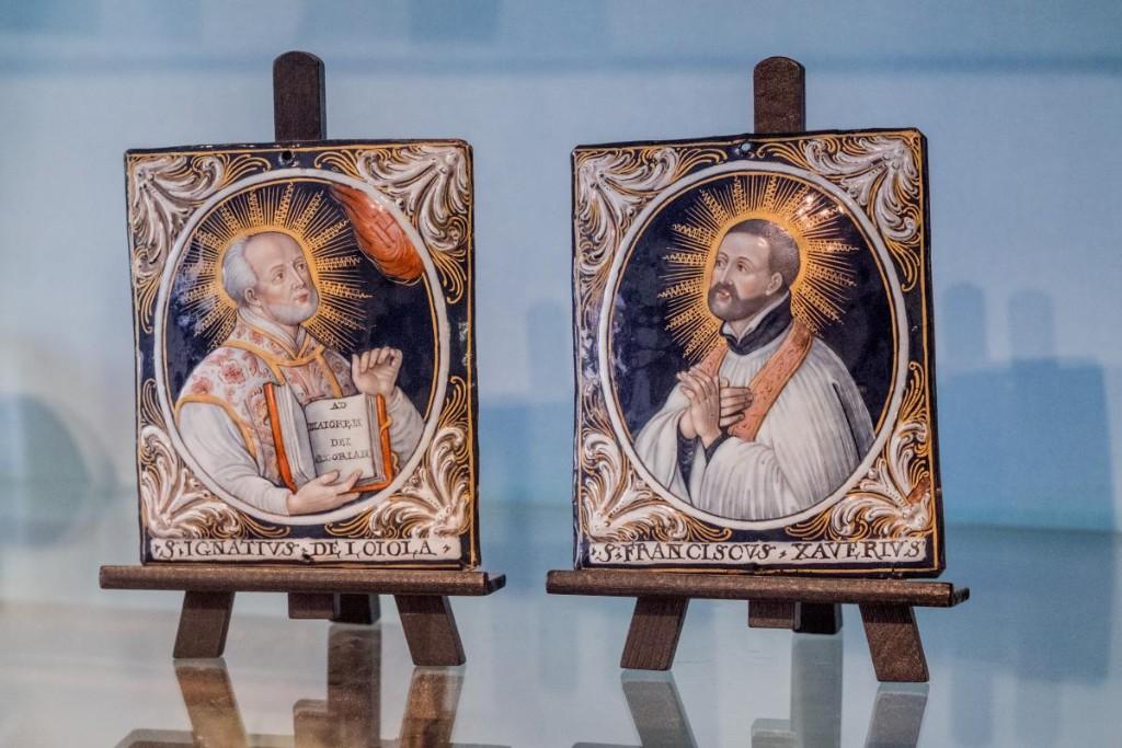 Ignace de Loyola et François-Xavier, émail peint, Limoges -photo-2