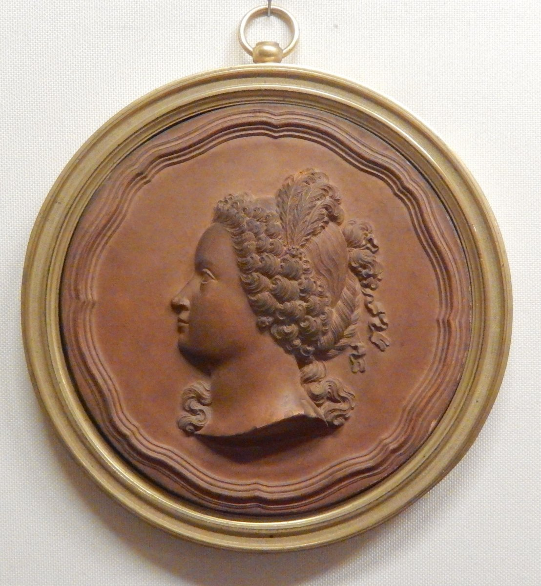 Jb Nini Large Terracotta Medallion