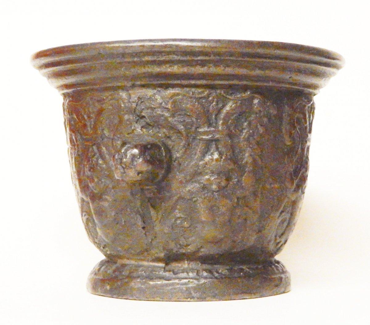 Mortier En Bronze, Rouen début du 17e siècle-photo-2