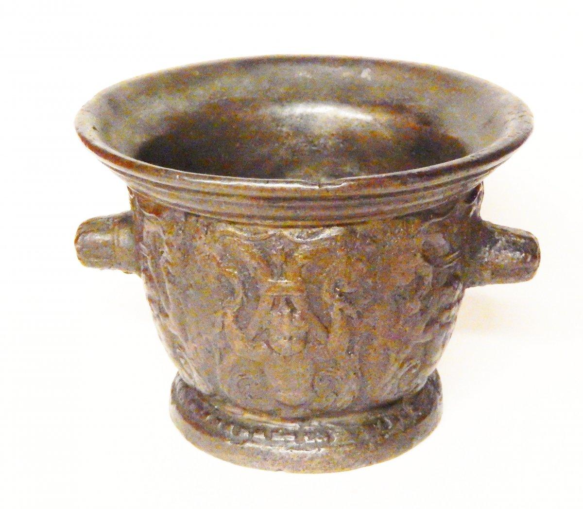 Mortier En Bronze, Rouen début du 17e siècle-photo-3