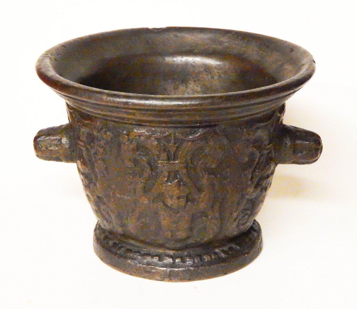 Mortier En Bronze, Rouen début du 17e siècle-photo-1