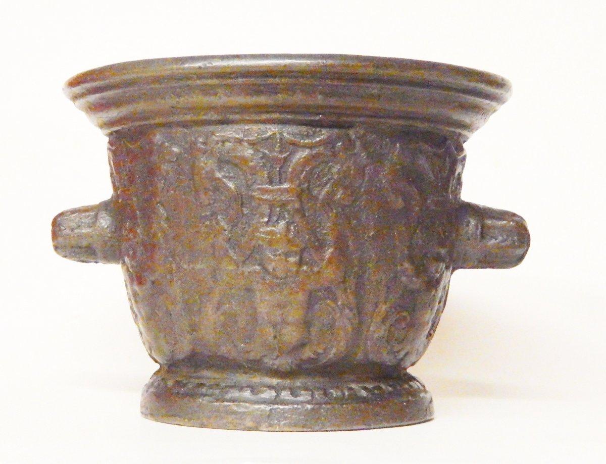 Mortier En Bronze, Rouen début du 17e siècle