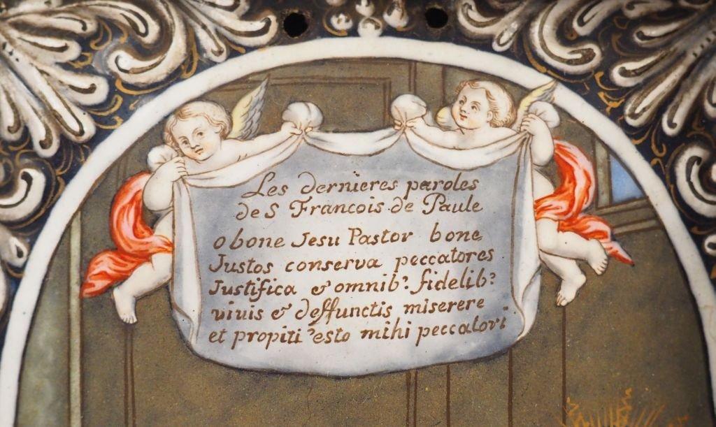 Saint François De Paule - émail De Limoges-photo-2