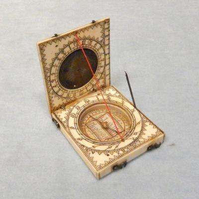 Ivory Sundial From Dieppe In France