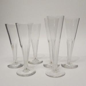 6 Champagne Glass Flutes,