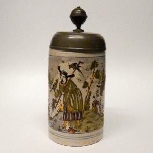 Mug In Earthenware Germany Eighteenth Century