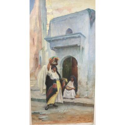 Huile Sur Toile Orientaliste Fritz Muller Alger 1920
