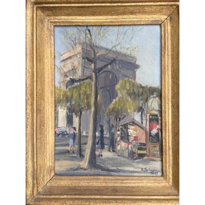 Tableau Katia Palvadeau 1903-1960 Arc De Triomphe