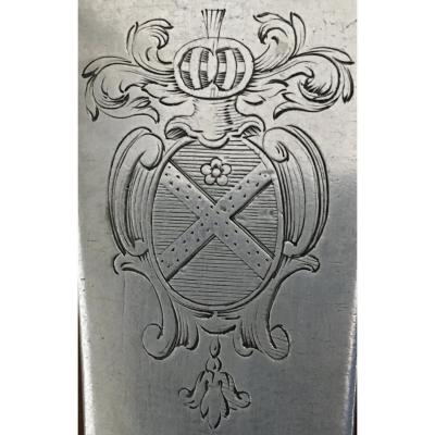 Spoon With Pot, Silver, Coat Of Arms, XVIIIth
